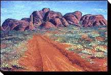 Australian outback paintings - The Olgas