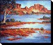 Australian outback paintings - Rainbow Valley