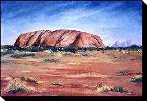 Australian outback paintings - Uluru and Kata Tjuta